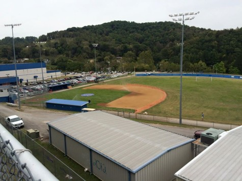 Sept.25: The final touches are put on the newly renovated LCHS Baseball Field.
