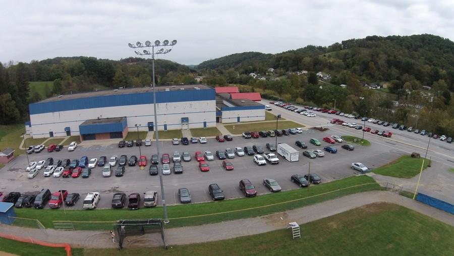 JROTC+Cadets+took+this+aerial+shot+of+the+school+using+their+QuadCopter+Drone++October+8.