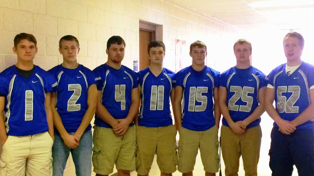 Seven LCHS Seniors are looking for one final win to become the most winning team in LCHS history. Pictured are, L to R: Riley Gunter, Tyler Metz, Dylan Gump, Ian Fealy, Adam Clem, Damien White and Mason Arbogast