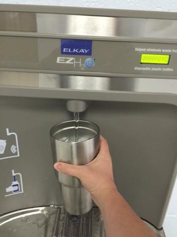 Water Bottle Filling Station Makes Us Smile!