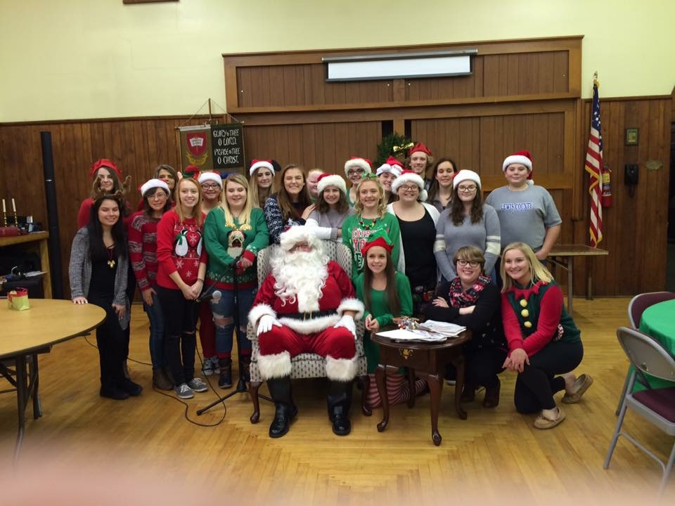 Interact members made the 'nice' list after assisting the Jolly Old Elf with Christmas presents at the Annual Rotary Christmas Lunch.