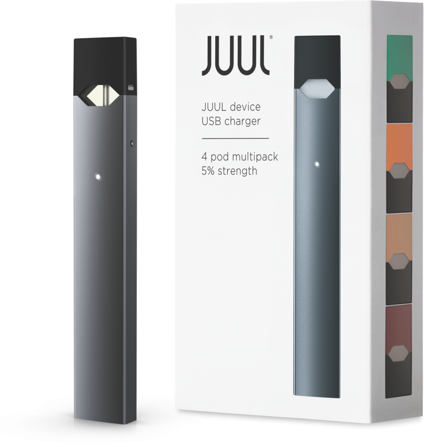 Juuls are a new vaping device. Its sleek style mimics the look of a storage device.