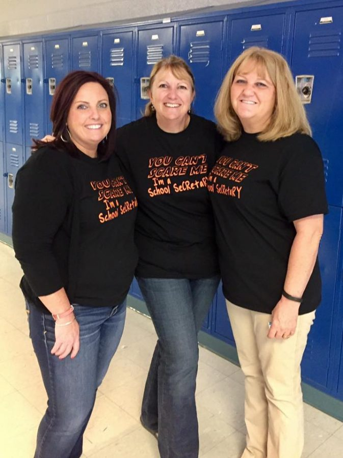 LCHS Secretaries (L to R): Amy Gosa, Karalee Lee and Becky Markley.