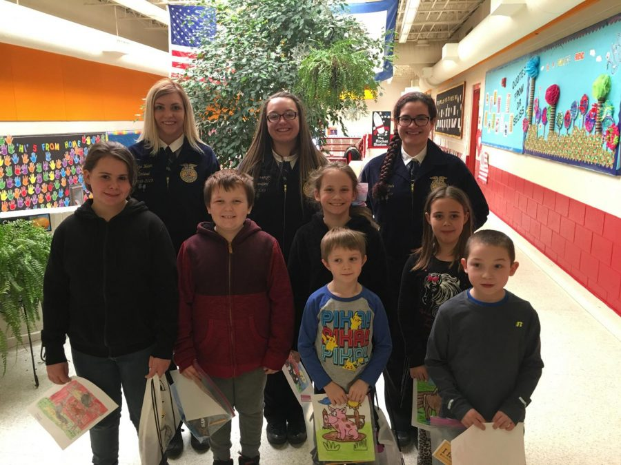 FFA Officers Travel to Elementary Schools