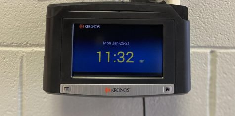 The new Kronos Time Clocks were installed at LCHS recently.